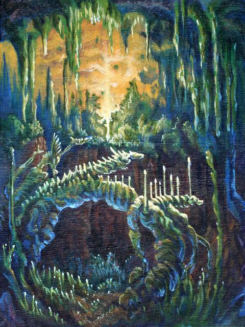 Jungle Cave Dragon Paint