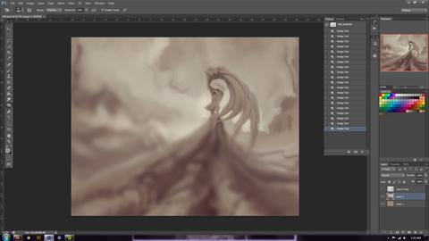 working on something