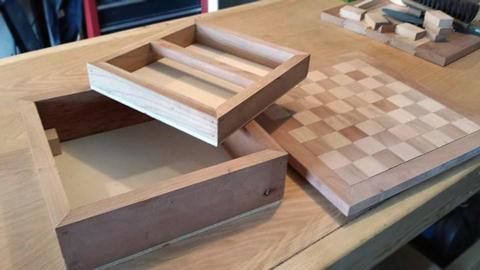 minecraft chess woodworking